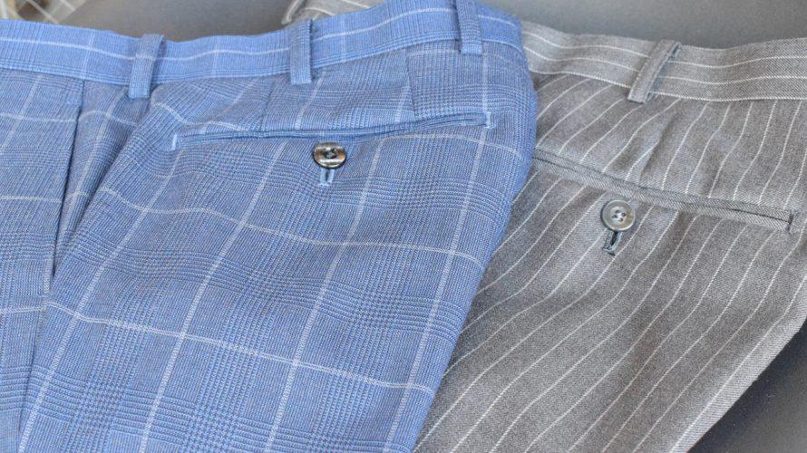 slacks -check, stripe- / スラックス 柄物
